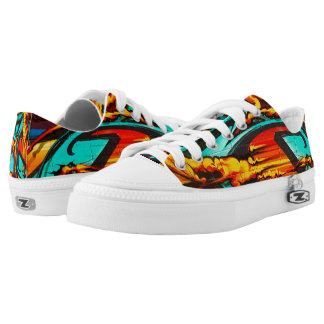 Graffiti Flames and Graphics Low Tops