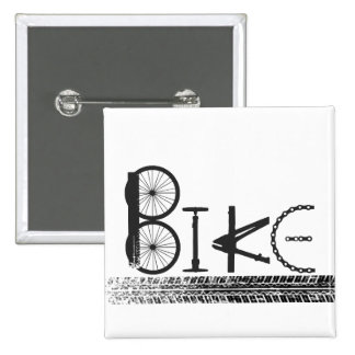 Graffiti from Bike Parts with Tire Tracks 15 Cm Square Badge