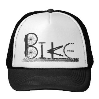 Graffiti from Bike Parts with Tire Tracks Hats