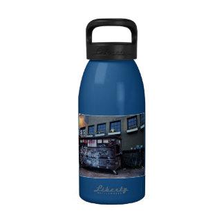 Graffiti Garbage Can & Blue Phone Water Bottles