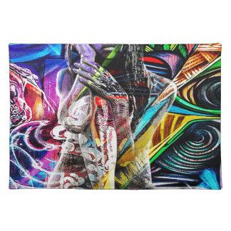 Graffiti girl placemat
