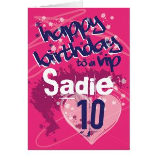 Graffiti Girl's Customised Birthday Card