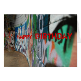 Graffiti, Happy , Birthday Greeting Card