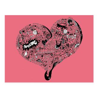 Graffiti Heart Full Postcard