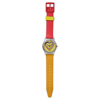 Graffiti Heart (yellow) Wristwatch