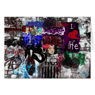 Graffiti i love life Blank Greeting Card