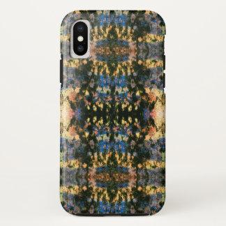 Graffiti Ikat   Tie Dye Black Multi Colour iPhone X Case