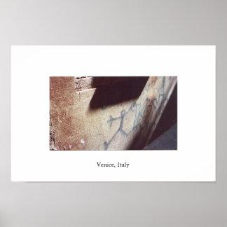 Graffiti in Venice Poster