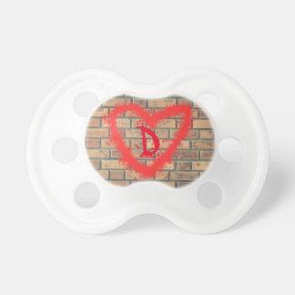 Graffiti Initial Heart Baby Pacifier