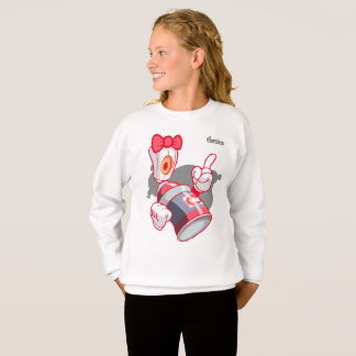 Graffiti Kids Hoodie: Girls Spray Can Streetwear Sweatshirt