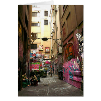 Graffiti lane, Melbourne Card