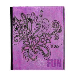 Graffiti Large Block Fun in Purple iPad Case