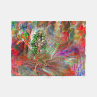 Graffiti Madonna blank Fleece Blanket