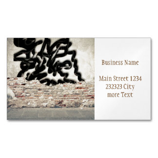 graffiti magnetic business cards