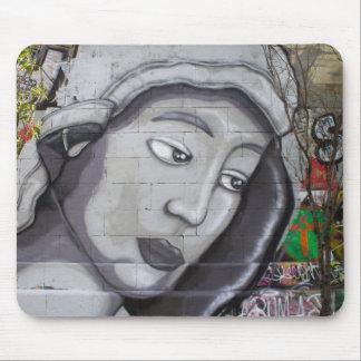 Graffiti Maria Mouse Pad