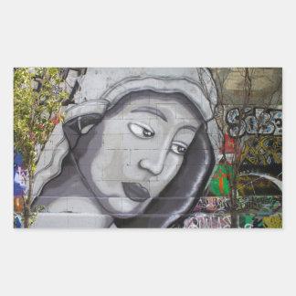Graffiti Maria Rectangular Sticker