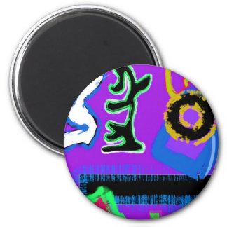 Graffiti ~ Modern Art ~  Modern colourful vibrant Magnets