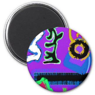 Graffiti Modern Art Modern colourful vibrant Fridge Magnets