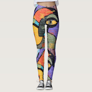 Graffiti monsters leggings