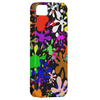 Graffiti Multi Paint Splatter Wallpaper Design iPhone 5 Cases