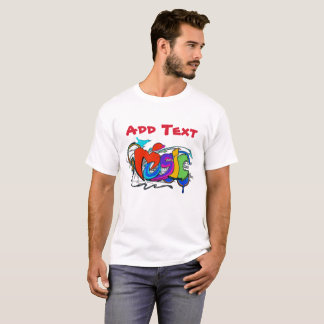 Graffiti: Music, add name or text T-Shirt