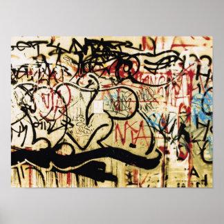 Graffiti on a wall poster