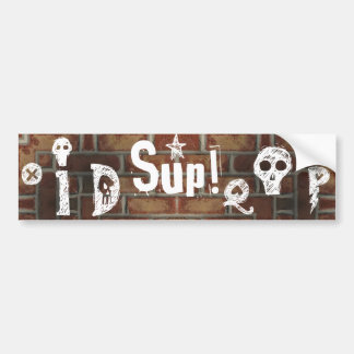Graffiti on Brick Wall Doodle Bumper Sticker