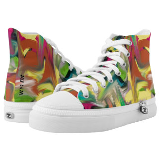 Graffiti on metal high tops
