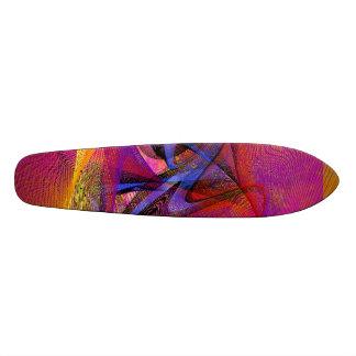 Graffiti on Pink Skate Board Deck