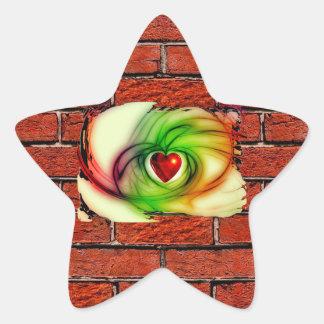 GRAFFITI ON THE WALL: THE ARTIST'S HEART ~ STAR STICKER