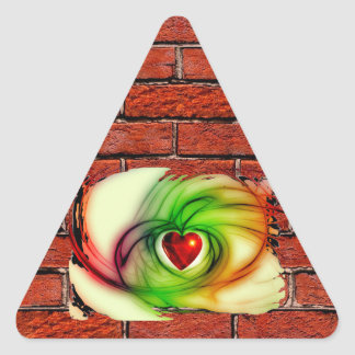GRAFFITI ON THE WALL: THE ARTIST'S HEART ~ TRIANGLE STICKER