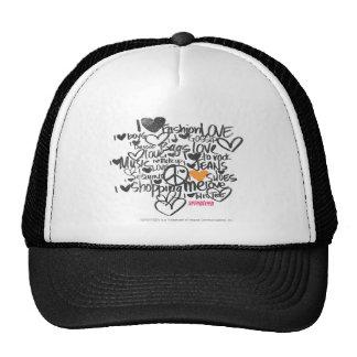 Graffiti Orange Cap