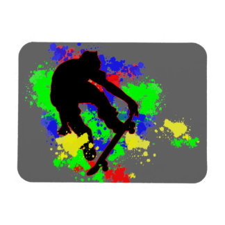 Graffiti Paint Splotches Skateboard Flexible Magnets