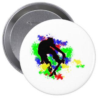 Graffiti Paint Splotches Skater Pins