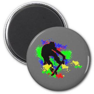 Graffiti Paint Splotches Skater Refrigerator Magnet
