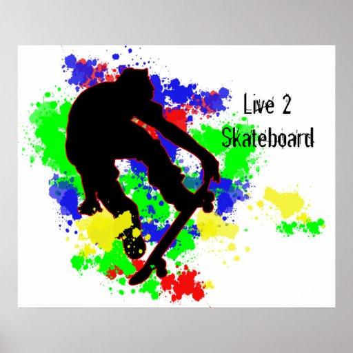 Graffiti Paint Splotches Skater Print