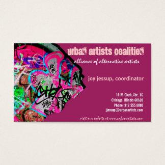 graffiti paper business card