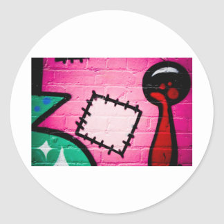 Graffiti Patch and Lolly. Round Sticker