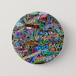 graffiti peace international translation 6 cm round badge