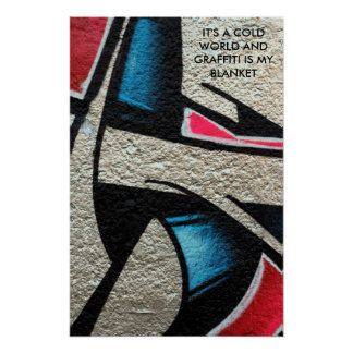 graffiti quote on a photo of a spray paint poster