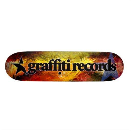 Graffiti Records Skateboard