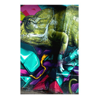 Graffiti reptile stationery design