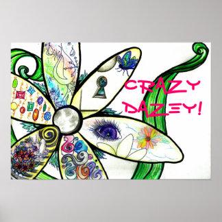 Graffiti Sketch CrAzY DaZey! Daisy Poster