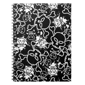 Graffiti skulls notebooks