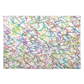 Graffiti Splatter Abstract Pattern Placemat