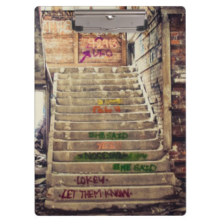 Graffiti stair case clipboard