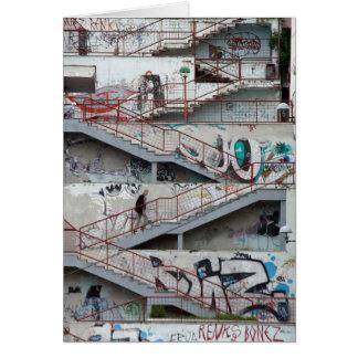 Graffiti Stairs, Sarajevo Card