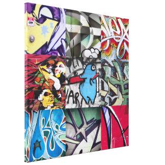 Graffiti (Street Art) Collage Canvas Print