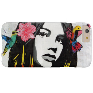 Graffiti Street Art Girl with Birds Barely There iPhone 6 Plus Case