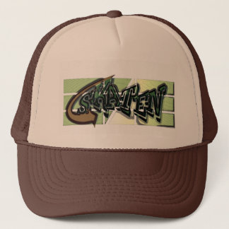 Graffiti style cap for Skater in Tan brown